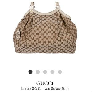 GUCCI Large GG Canvas Sukey Tote